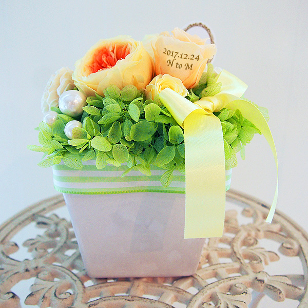 【花びらメッセージ】 パステル アレンジ