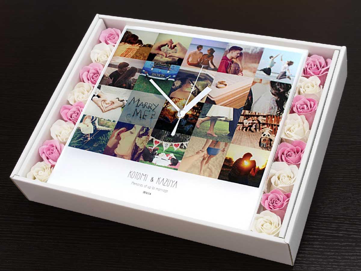 箱を開けた写真